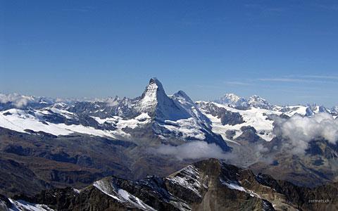 Matterhorn vom Allalinhorn aufgenommen